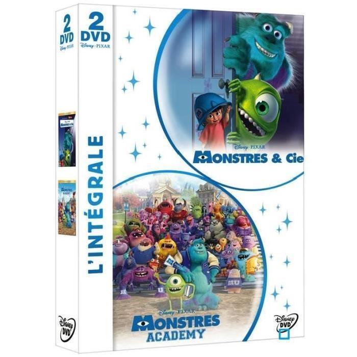 Coffret DVD MONSTRES ET CIE + MONSTRES ACADEMY
