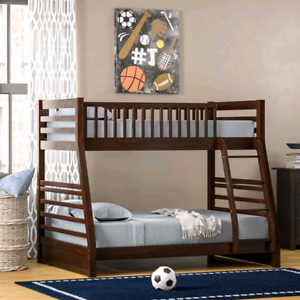 ** SOLD ** Bunk Bed dark brown Mahagony color