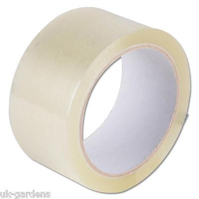 6x Large Clear Sellotape Tape Roll 48mm x 66m Low Noise Packing Mailing Dispatch
