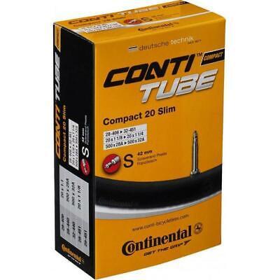20 Zoll Continental Compact Schlauch Presta Ventil Fahrradschlauch 1 1/4-1.75x2 4 X 20 Compact