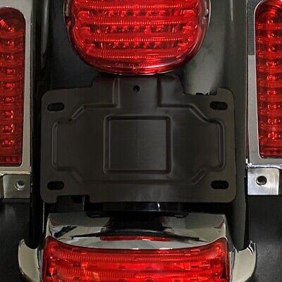 Custom Dynamics CD-TLLP-KIT-B Black License Plate Relocation Kit Harley Touring