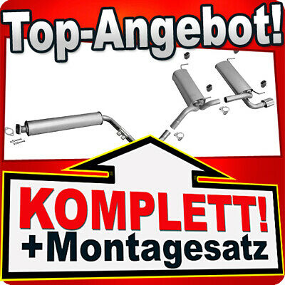 Montagesatz Auspuffanlage Opel Astra G 1.6 Kombi Auspuff Endtopf Mitteltopf