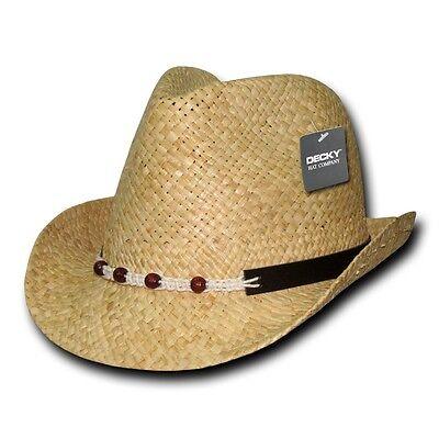 - Tan Khaki Woven Braid Raffia Straw Hipster Fedora Fedoras Hat Hats Band Sz S/M