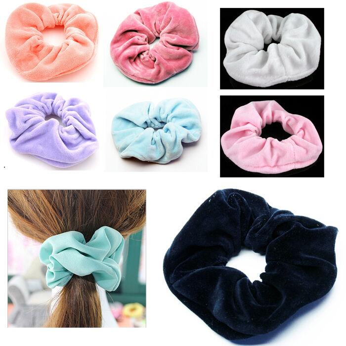 Haargummi Samt Haarband Zopfband Zopfgummi Velour  13cm XL Scrunchie Dick *