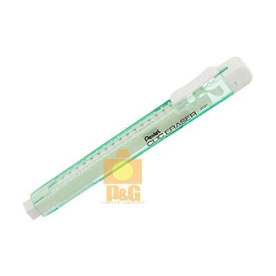 Pentel Clic Eraser Refillable Retractable Green Ze81