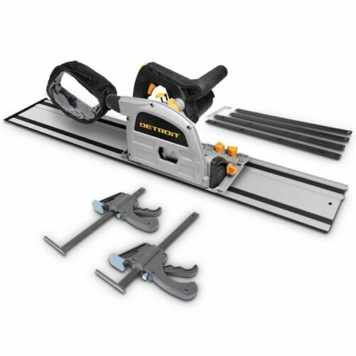 Detroit 1200w Saw Plunge Rail 2 X F Clamp Connect Dust Bag Kit Ttkit698