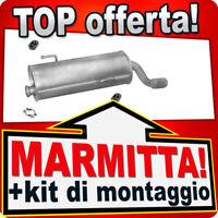 SILENZIATORE MARMITTA POSTERIORE PEUGEOT 206 CC 1.6 2.0