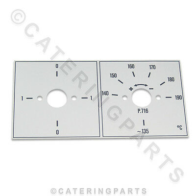 VALENTINE 716 FRYER SWITCH & THERMOSTAT FASCIA PLATE SURROUND BEZEL P1 P2 ZENITH for sale  Shipping to Ireland
