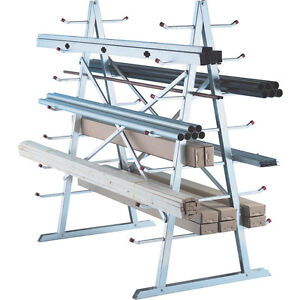 CANTILEVER RACKING IN STOCK. 2 SIDED STAND ALONE CANTILEVER RACK