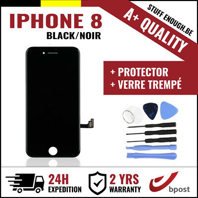A+ LCD TOUCH SCREEN/SCHERM/ÉCRAN BLACK NOIR & VERRE TREMPÉ + TOOLS FOR IPHONE 8