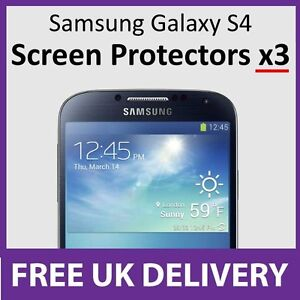 samsung galaxy s4 screen protectors x3 with x3 cleaning. Black Bedroom Furniture Sets. Home Design Ideas