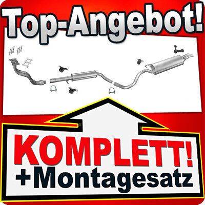 Auspuff VW BORA / VW GOLF 4 IV Variant 1.6 100/102PS +Rohr Auspuffanlage H05C
