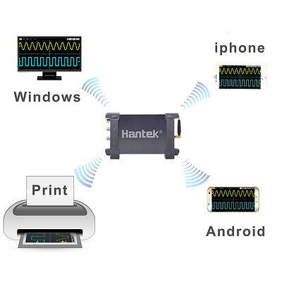 Wifi Usb 2ch 70mhz Oscilloscope 250msas Li-battery For Ios Android Win 7 8 10