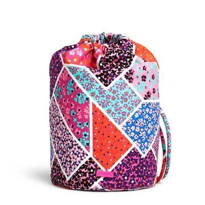 VERA BRADLEY New Modern Medley Ditty Bag For Travel Gym Pink Orange
