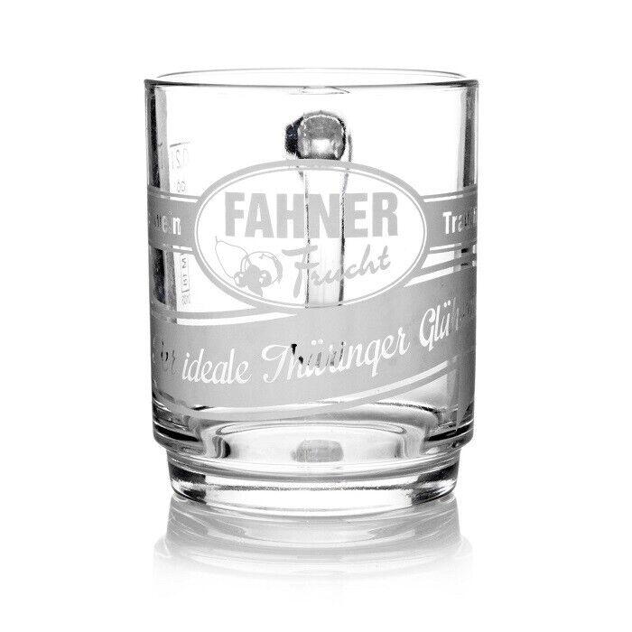 Glühweingläser Fahner Frucht 0,2l Henkelbecher 12 Punsch Gläser m. Henkel Gl ...