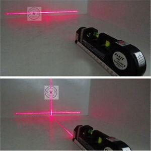 Pop Multipurpose Laser Level Horizon Vertical Measure Tape 8FT Aligner Efficient
