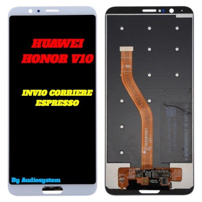 DISPLAY LCD+TOUCH SCREEN HUAWEI HONOR V10 10 VIEW BIANCO VETRO BKL-AL20 AL00 L09