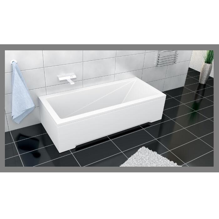 Badewanne Rechteck Acryl 120,130,140,150,160,170x70 Ablauf VIEGA Füße MODERN F