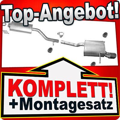 MONTAGESATZ Auspuff Endschalldämpfer Endtopff  Mercedes C180-200 W202