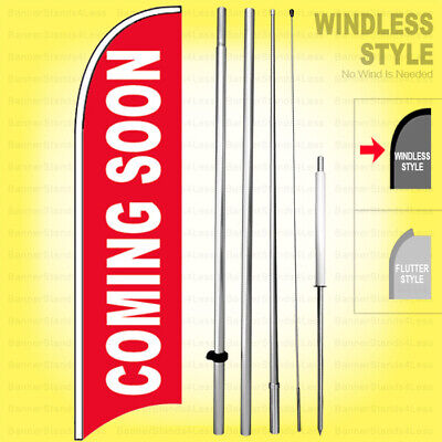 Coming Soon - Windless Swooper Flag 15 Kit Sign Rb-h