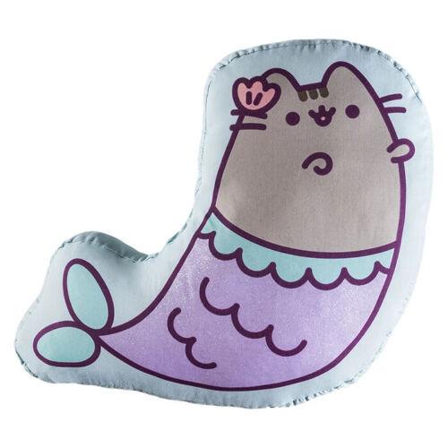 PUSHEEN The Cat Cushion Mermaid Room Decorative Toss Pillow Kitty for Girls 1PC