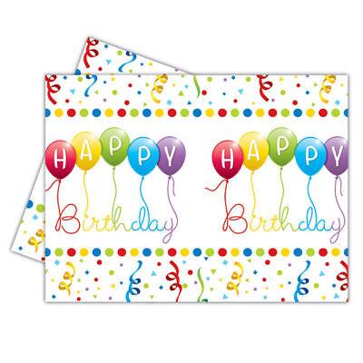 hday Streamers, 120x180 cm Tischtuch Partydeko Einweg  (Hapy Birthday)