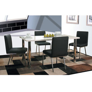 Annetta White High Gloss Dining Furniture
