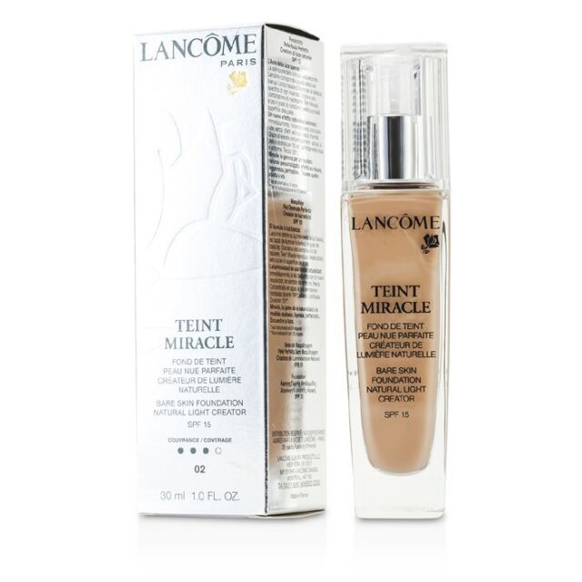 Lancome Teint Miracle Bare Skin Foundation Natural Light - #02 Lys Rose 30ml