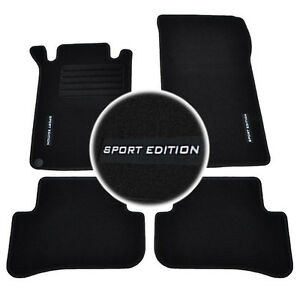 tapis sol moquette logo sport n sur mesure mercedes classe c w203 c30 cdi amg ebay. Black Bedroom Furniture Sets. Home Design Ideas