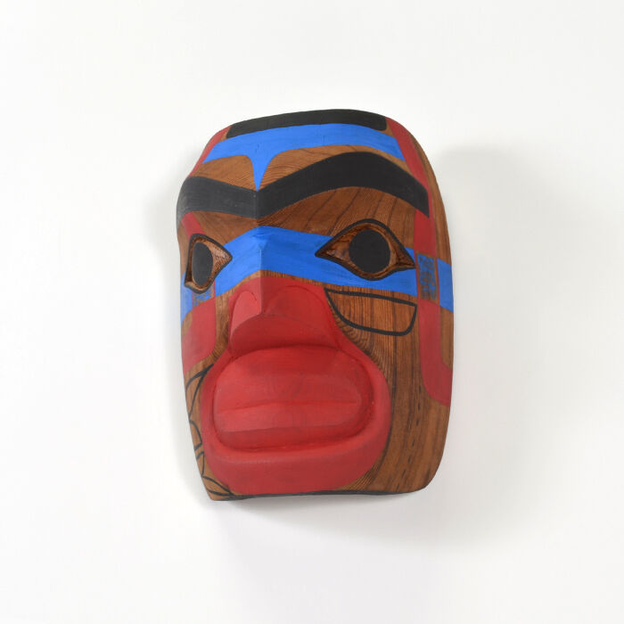 Native Warrior Mask Red Cedar Northwest Coast Art