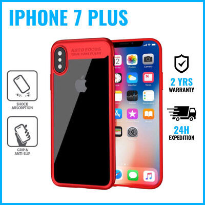 Armor Cover Cas Coque Etui Silicone Hoesje Case Black For iPhone 7 Plus Red
