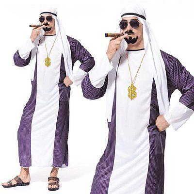 Arabian Sultan Arab Dubai Gangster Sheik Ali Baba Mens Funny Fancy Dress - Costumes Funny