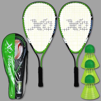Speed Badminton Schläger Set Federball Badminton Badmintonset Bälle Tasche Sport