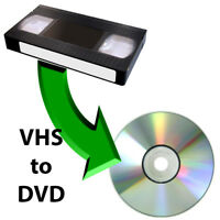 VHS to DVD conversion - $10