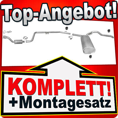 Auspuff OPEL VIVARO 1.9 DTI DI SWB-Kurz 2001-2006 Auspuffanlage 774A
