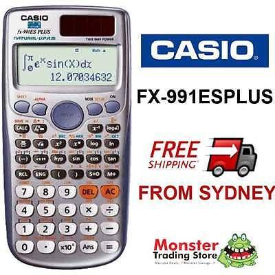 AUSSIE SELLER CASIO SCIENTIFIC CALCULATOR FX-991 FX991 FX-991ESPLUS WARRANTY