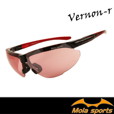 MOLA Vernon-r SPORTS Black Red Sunglasses for ladies women outdoor running