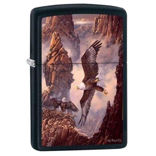 Zippo Lighter - Canyon Eagle Family Black Matte - 853420