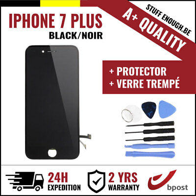 A+ LCD TOUCH SCREEN SCHERM ÉCRAN BLACK NOIR&VERRE TREMPÉ+TOOLS FOR IPHONE 7 PLUS