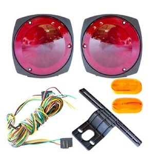 tail light wiring harness 12v trailer light kit w wiring harness replacement brake marker towing tail