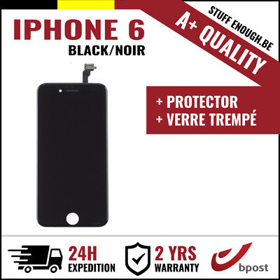 A+ LCD VITRE TACTILE SCREEN SCHERM ÉCRAN BLACK NOIR &VERRE TREMPÉ FOR IPHONE 6