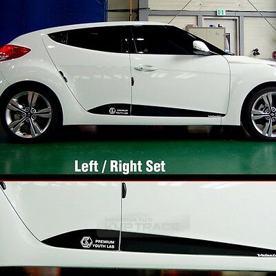 Side Door Line Guard Decal Sticker Mask for HYUNDAI 2011-2017 Veloster / Turbo