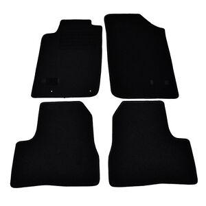 4 tapis sol moquette noir sur mesure peugeot 206 sw urban generation nav ebay. Black Bedroom Furniture Sets. Home Design Ideas