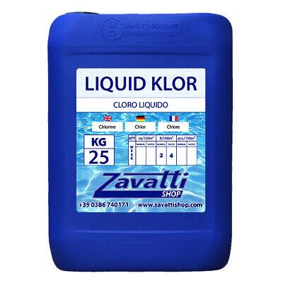 25Lt Liquid Klor - Cloro Líquido Para Dosificador Automático Piscina
