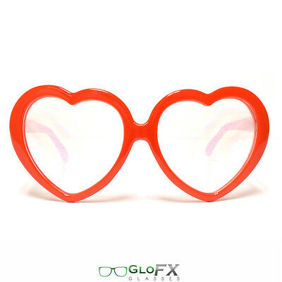 Heart Shaped Diffraction Glasses Costume Girls EDM Bass raver sunglasses fashion - Bass Costume
