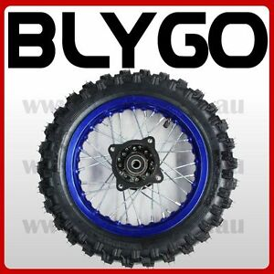 BLUE-2-50-10-Inch-Front-Wheel-Rim-Knobby-Tyre-Tire-PIT-PRO-Trail-Dirt-Bike