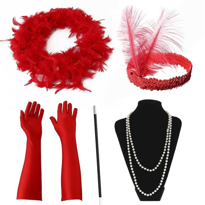Fancy Dress Ladies Gatsby  Accessories Flapper 20'S Charlest