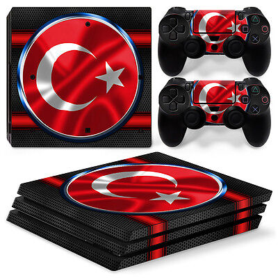 Sony PS4 PlayStation 4 Pro Skin Sticker Screen Protector Set - TURKEY MOTIF