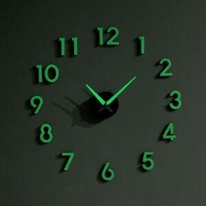 nightglow wall clock decorative wall clocks glow in the