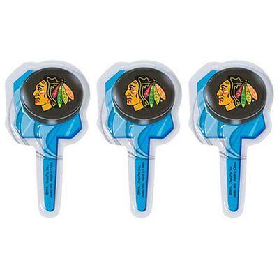 12  Chicago Blackhawks  Cupcake Picks  HOCKEY NHL Team Sport Ice Skate](Sports Cupcake Picks)